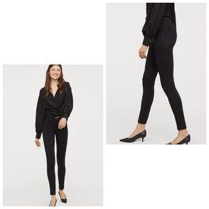 3/$20 H&M High Waist Jeggings • Black Stretch